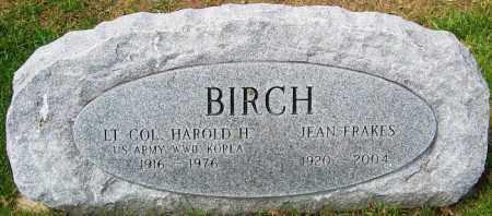 FRAKES BIRCH, JEAN - Franklin County, Ohio | JEAN FRAKES BIRCH - Ohio Gravestone Photos