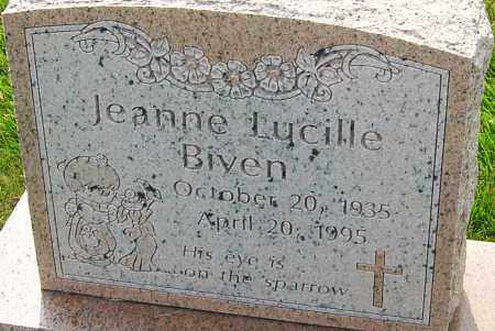 BIVEN, JEANNE LUCILLE - Franklin County, Ohio | JEANNE LUCILLE BIVEN - Ohio Gravestone Photos