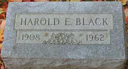 BLACK, HAROLD E - Franklin County, Ohio   HAROLD E BLACK - Ohio Gravestone Photos