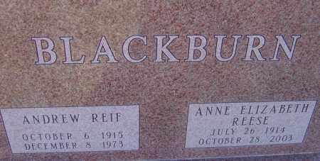 REESE BLACKBURN, ANNE ELIZABETH - Franklin County, Ohio | ANNE ELIZABETH REESE BLACKBURN - Ohio Gravestone Photos