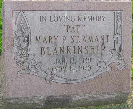 ST. AMANT BLANKINSHIP, MARY P - Franklin County, Ohio | MARY P ST. AMANT BLANKINSHIP - Ohio Gravestone Photos