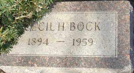 BOCK, CECIL H - Franklin County, Ohio   CECIL H BOCK - Ohio Gravestone Photos
