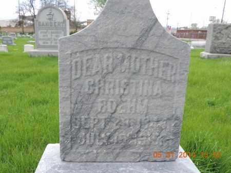 BOEHM, CHRISTINA - Franklin County, Ohio | CHRISTINA BOEHM - Ohio Gravestone Photos