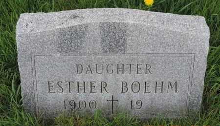 BOEHM, ESTHER - Franklin County, Ohio | ESTHER BOEHM - Ohio Gravestone Photos