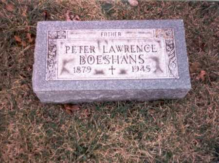 BOESHANS, PETER LAWRENCE - Franklin County, Ohio | PETER LAWRENCE BOESHANS - Ohio Gravestone Photos