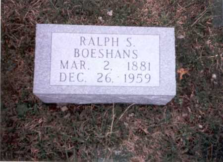 BOESHANS, RALPH S. - Franklin County, Ohio | RALPH S. BOESHANS - Ohio Gravestone Photos