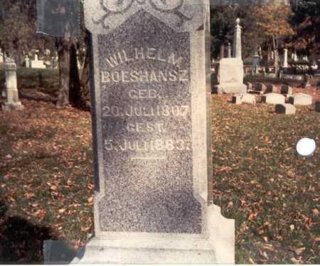BOESHANSZ, WILHELM - Franklin County, Ohio   WILHELM BOESHANSZ - Ohio Gravestone Photos