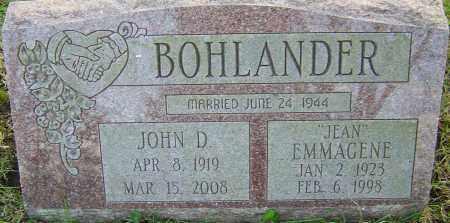 BOHLANDER, EMMAGENE - Franklin County, Ohio | EMMAGENE BOHLANDER - Ohio Gravestone Photos
