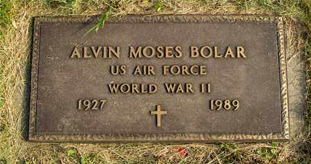 BOLAR, ALVIN MOSES - Franklin County, Ohio   ALVIN MOSES BOLAR - Ohio Gravestone Photos