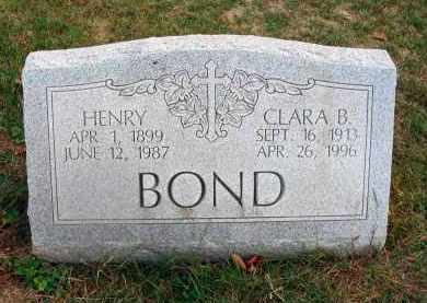 BOND, CLARA B. - Franklin County, Ohio | CLARA B. BOND - Ohio Gravestone Photos