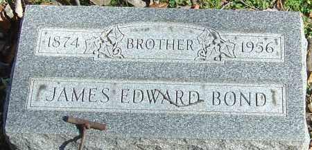 BOND, JAMES EDWARD - Franklin County, Ohio | JAMES EDWARD BOND - Ohio Gravestone Photos