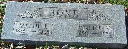 BOND, MATTIE I - Franklin County, Ohio | MATTIE I BOND - Ohio Gravestone Photos
