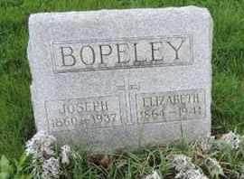 BOPELEY, ELIZABETH - Franklin County, Ohio | ELIZABETH BOPELEY - Ohio Gravestone Photos
