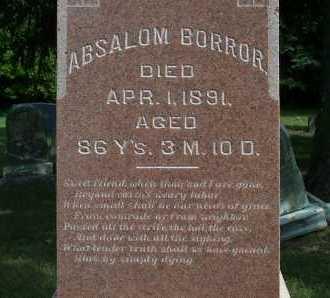 BORROR, ABSALOM - Franklin County, Ohio   ABSALOM BORROR - Ohio Gravestone Photos