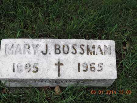 BOSSMAN, MARY J - Franklin County, Ohio | MARY J BOSSMAN - Ohio Gravestone Photos