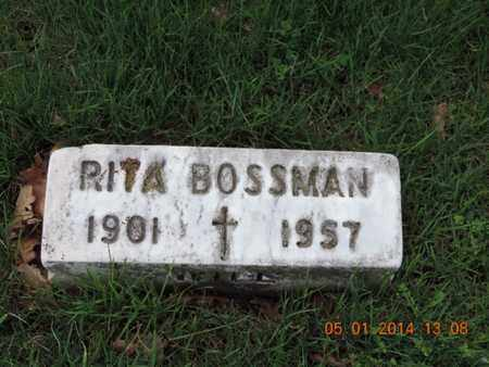BOSSMAN, RITA - Franklin County, Ohio | RITA BOSSMAN - Ohio Gravestone Photos