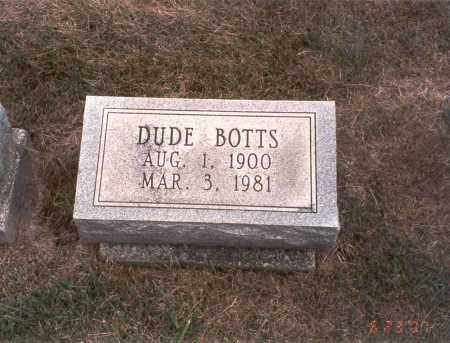 BOTTS, DUDE - Franklin County, Ohio   DUDE BOTTS - Ohio Gravestone Photos