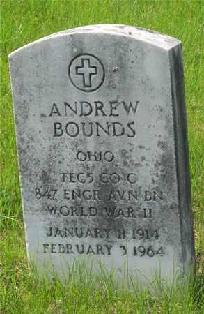 BOUNDS, ANDREW - Franklin County, Ohio   ANDREW BOUNDS - Ohio Gravestone Photos
