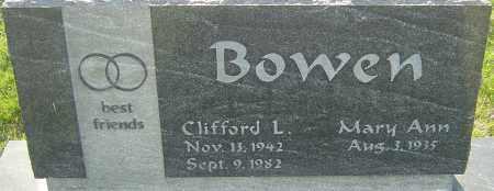 BOWEN, CLIFFORD L - Franklin County, Ohio | CLIFFORD L BOWEN - Ohio Gravestone Photos