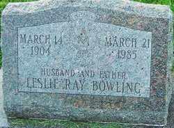 BOWLING, LESLIE RAY - Franklin County, Ohio   LESLIE RAY BOWLING - Ohio Gravestone Photos