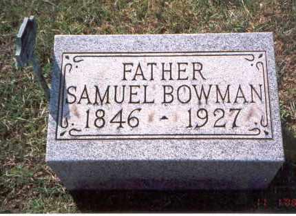 BOWMAN, SAMUEL - Franklin County, Ohio   SAMUEL BOWMAN - Ohio Gravestone Photos