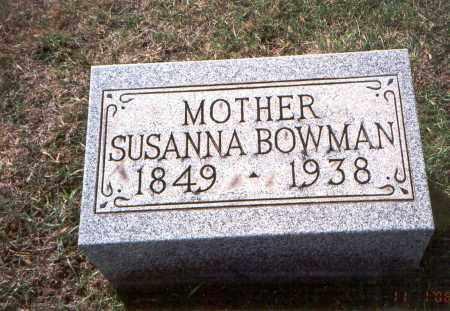 MOTZ BOWMAN, SUSANNA - Franklin County, Ohio | SUSANNA MOTZ BOWMAN - Ohio Gravestone Photos