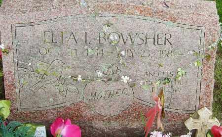 BOWSHER, ELTA L - Franklin County, Ohio   ELTA L BOWSHER - Ohio Gravestone Photos