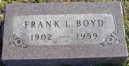 BOYD, FRANK L - Franklin County, Ohio | FRANK L BOYD - Ohio Gravestone Photos