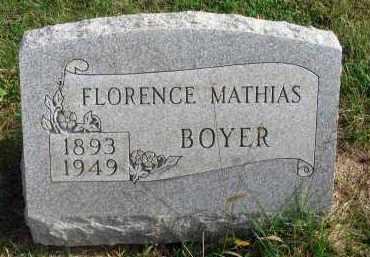 BOYER, FLORENCE - Franklin County, Ohio   FLORENCE BOYER - Ohio Gravestone Photos