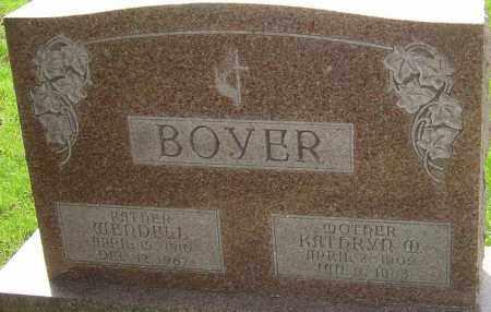 BOYER, WENDELL - Franklin County, Ohio | WENDELL BOYER - Ohio Gravestone Photos