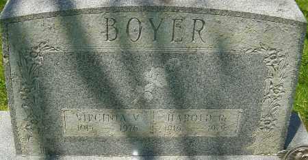 BOYER, HAROLD R - Franklin County, Ohio | HAROLD R BOYER - Ohio Gravestone Photos