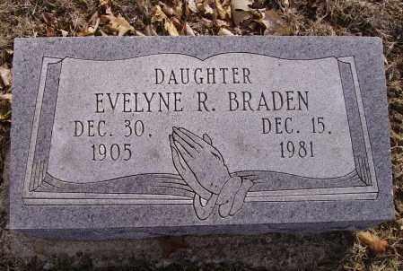 BRADEN, EVELYNE R. - Franklin County, Ohio   EVELYNE R. BRADEN - Ohio Gravestone Photos