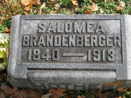 WALZ BRANDENBERGER, MARIA SALOMEA - Franklin County, Ohio | MARIA SALOMEA WALZ BRANDENBERGER - Ohio Gravestone Photos