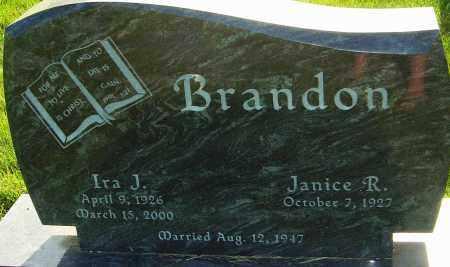 BRANDON, IRA J - Franklin County, Ohio | IRA J BRANDON - Ohio Gravestone Photos