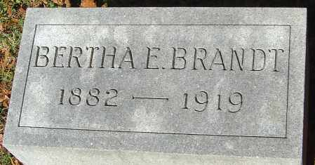 BRANDT, BERTHA E - Franklin County, Ohio | BERTHA E BRANDT - Ohio Gravestone Photos