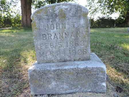 BRANNAN, JOHN T. - Franklin County, Ohio | JOHN T. BRANNAN - Ohio Gravestone Photos