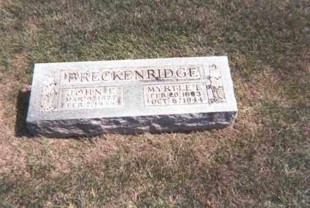 BRECKENRIDGE, MYRTLE E. - Franklin County, Ohio | MYRTLE E. BRECKENRIDGE - Ohio Gravestone Photos