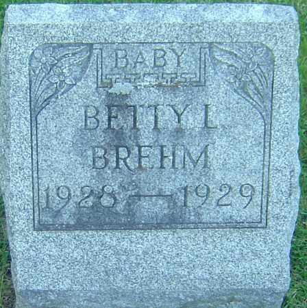 BREHM, BETTY L - Franklin County, Ohio | BETTY L BREHM - Ohio Gravestone Photos