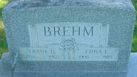 BREHM, FRANK D - Franklin County, Ohio   FRANK D BREHM - Ohio Gravestone Photos