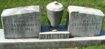 MOSS BREHM, LYDIA MARGARET - Franklin County, Ohio | LYDIA MARGARET MOSS BREHM - Ohio Gravestone Photos