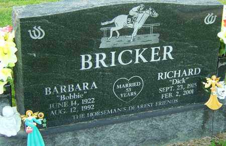 BRICKER, RICHARD - Franklin County, Ohio | RICHARD BRICKER - Ohio Gravestone Photos