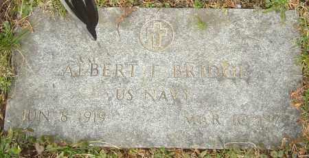 BRIDGE, ALBERT F - Franklin County, Ohio | ALBERT F BRIDGE - Ohio Gravestone Photos