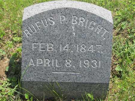 BRIGHT, RUFUS P. - Franklin County, Ohio | RUFUS P. BRIGHT - Ohio Gravestone Photos
