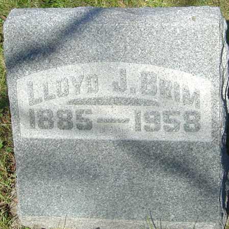 BRIM, LLOYD JAMES - Franklin County, Ohio | LLOYD JAMES BRIM - Ohio Gravestone Photos
