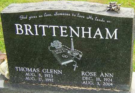 STOLLE BRITTENHAM, ROSE ANN - Franklin County, Ohio | ROSE ANN STOLLE BRITTENHAM - Ohio Gravestone Photos