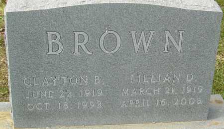 BROWN, LILLIAN D - Franklin County, Ohio | LILLIAN D BROWN - Ohio Gravestone Photos