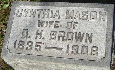 MASON BROWN, CYNTHIA - Franklin County, Ohio | CYNTHIA MASON BROWN - Ohio Gravestone Photos