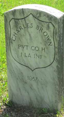 BROWN, CHARLES - Franklin County, Ohio | CHARLES BROWN - Ohio Gravestone Photos