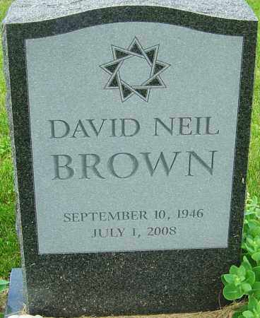 BROWN, DAVID NEIL - Franklin County, Ohio | DAVID NEIL BROWN - Ohio Gravestone Photos
