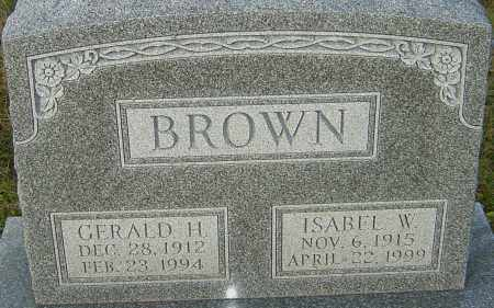 BROWN, ISABEL - Franklin County, Ohio   ISABEL BROWN - Ohio Gravestone Photos
